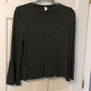 BP Green Bell sleeve shirt